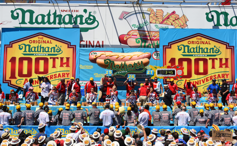 Image: Nathan's Fourth of July hot dog eating contest in New York