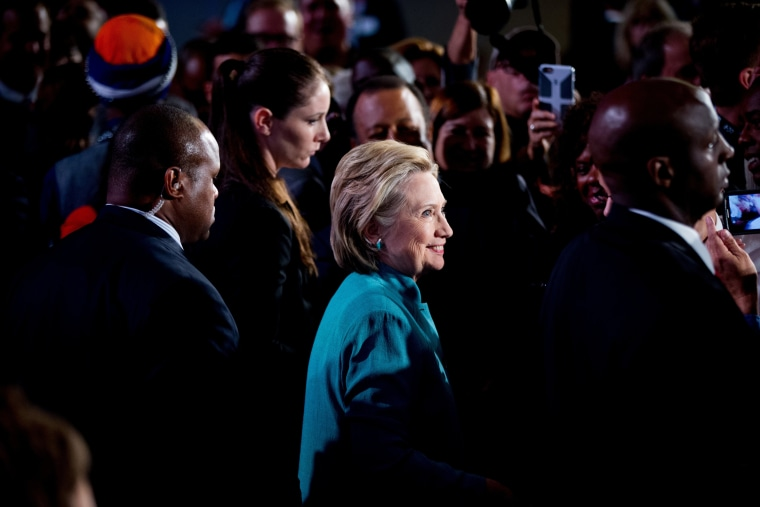 Image: Hillary Clinton greets members of the audience