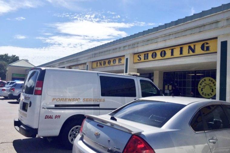 Image: Police investigate a shooting at the High Noon Gun Range in Sarasota