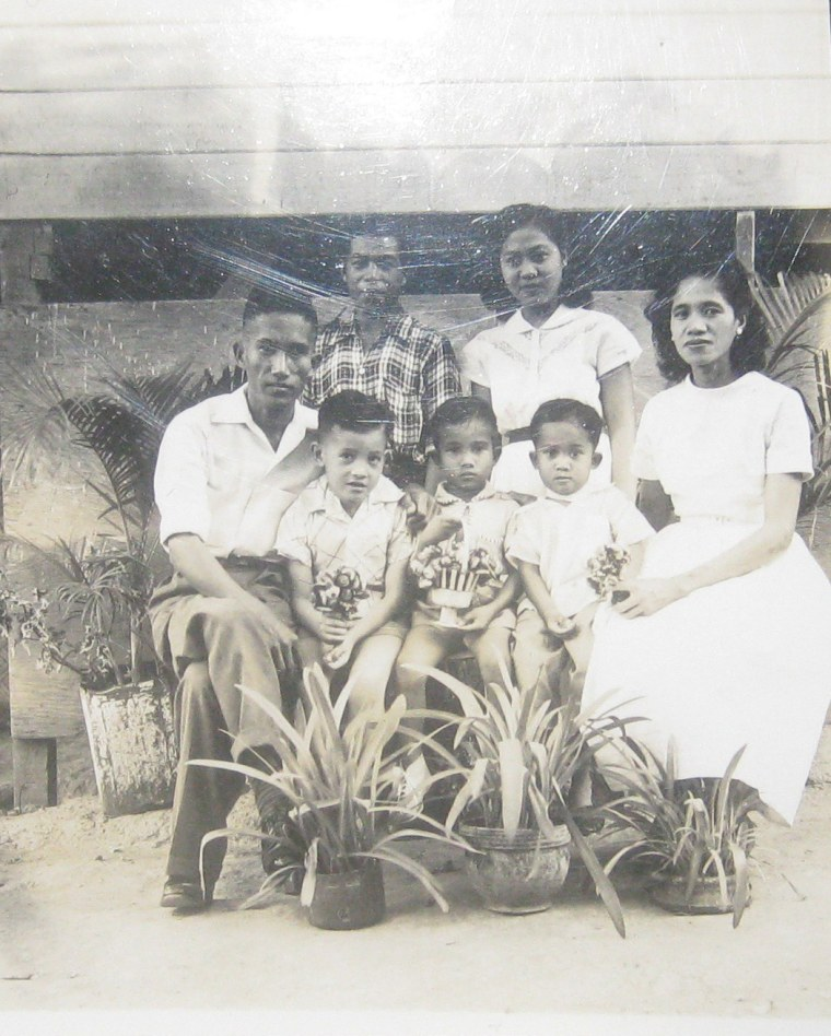 A picture of Leones, far right, and her family in the Philippines in the 1960s.