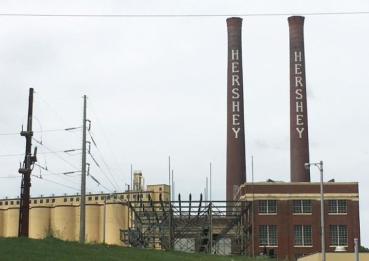 An old Hershey Co. chocolate factory remains standing in Hershey