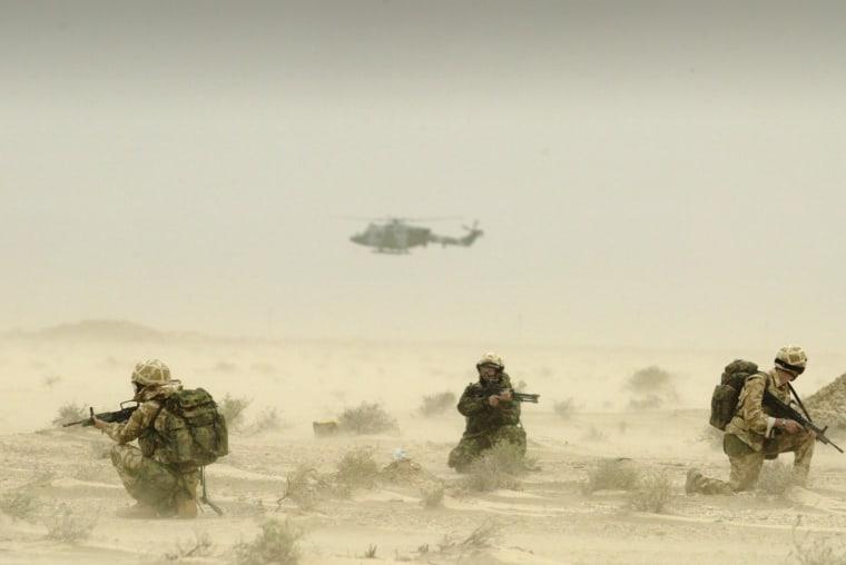 Image: Members of British 16 Air Assault Brigade