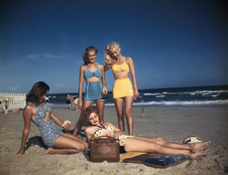 Image: Bathing Suit Wearers Modeling Fashions
