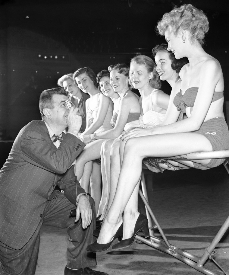 Image: Ken Murray selecting young women for his soon-to-come television program
