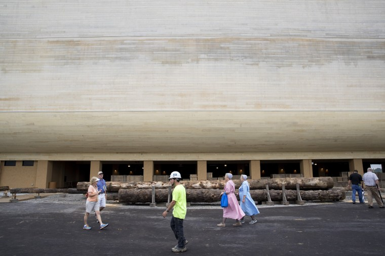 Image: Creationist Builds Large Scale Noah's Ark In Northern Kentucky