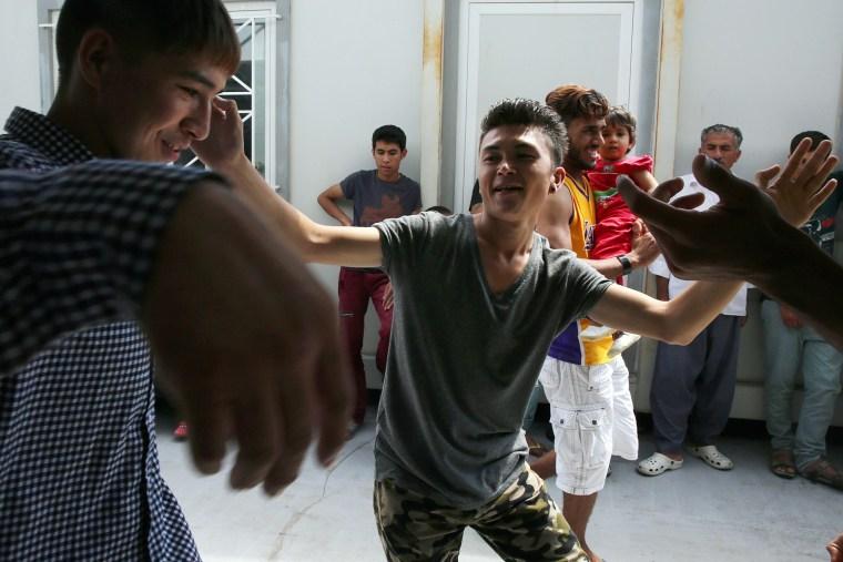 Image: Migrants celebrate Eid Al-Fitr in Athens