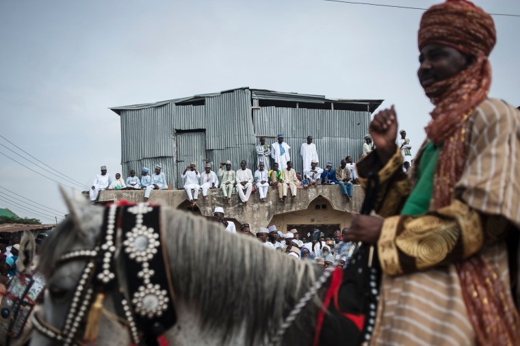 Image: NIGERIA-RELIGION-ISLAM-HORSE
