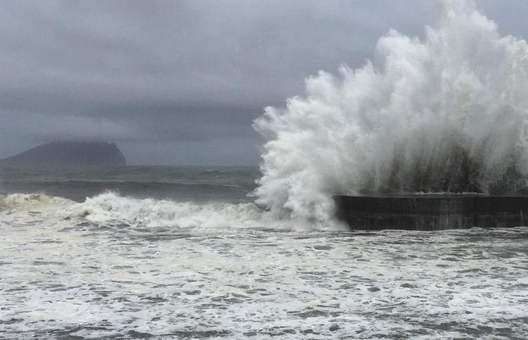 Image: Typhoon Nepartak makes its way across the Philippines Sea