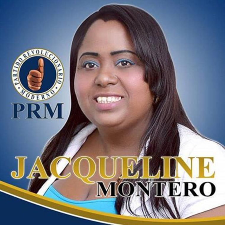Jacqueline Montero, who is running for a seat in Congress of the Dominican Republic.