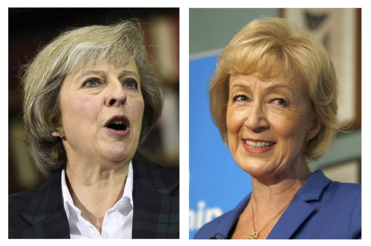 Image: A combination of two photographs show the candidates in the Conservative party leadership contest