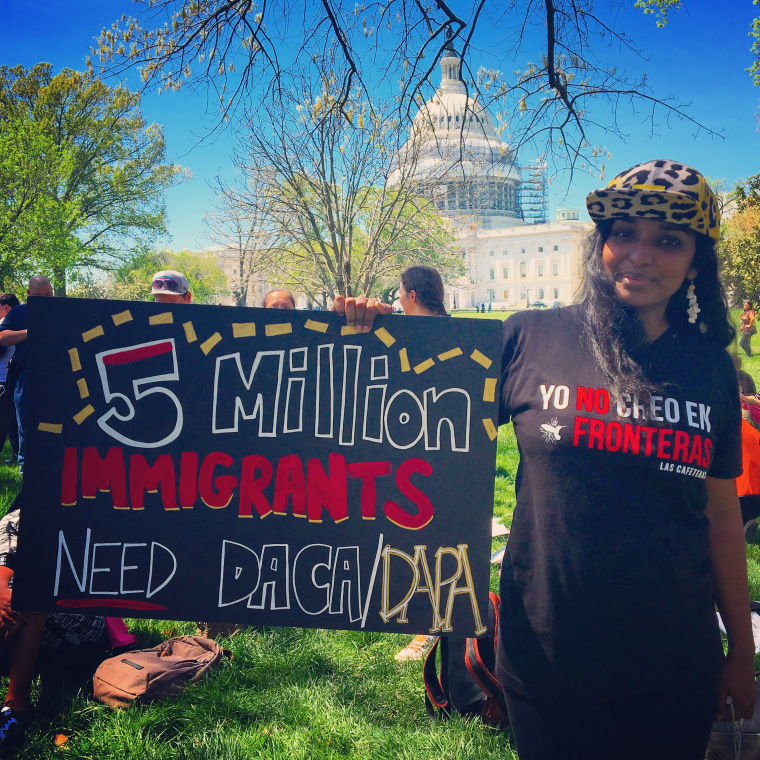 Thanu Yakupitiyage at Immigration Relief Rally at U.S. Supreme Court, April 2016