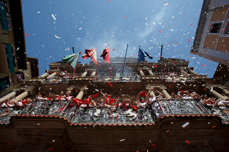Image: San Fermin Running of the Bulls - Day 1