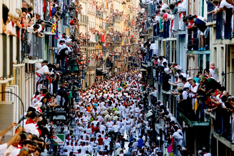 Image: San Fermin Running of the Bulls - Day 2