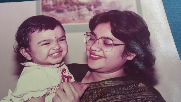 Tanwi Nandini Islam as a baby with her mother