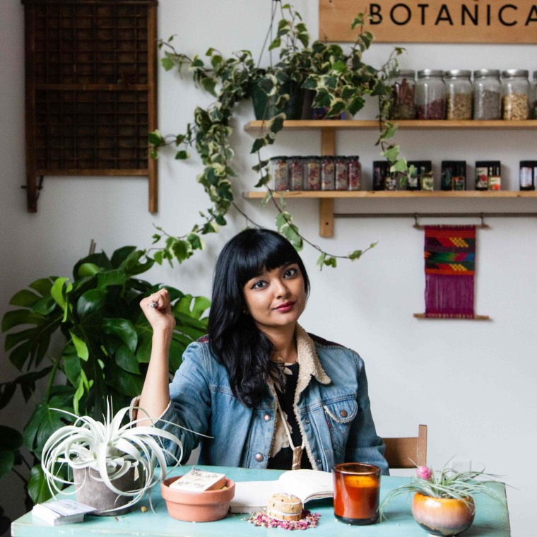 Tanwi Nandini Islam at the Hi Wildflower Botanicals Studio
