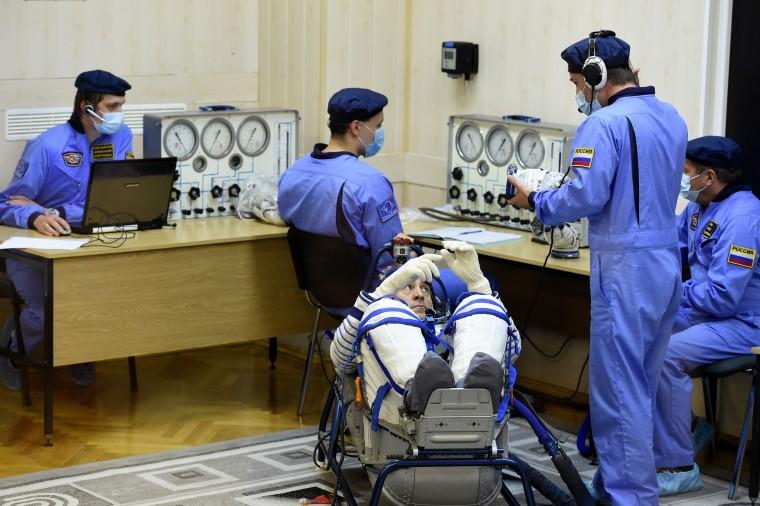 Image: TOPSHOT-KAZAKHSTAN-RUSSIA-USA-JAPAN-SPACE-ISS