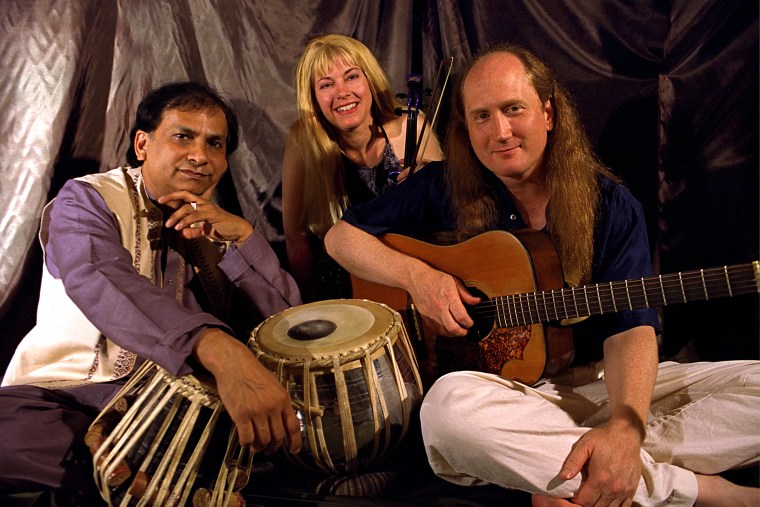 Arshad Syed, right, pictured here with his fellow band mates from Ancient Future, a fusion band Syed played with in the past.
