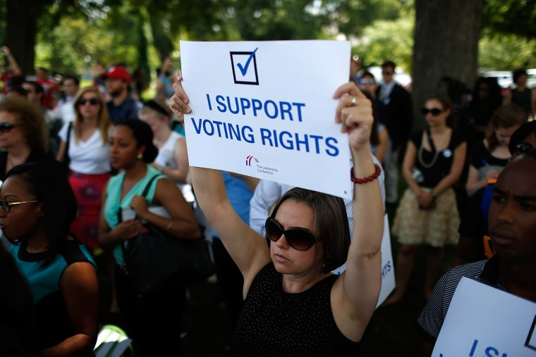 Rally Marks 1-Year Anniversary Of Supreme Court Decision On Voting Rights Act