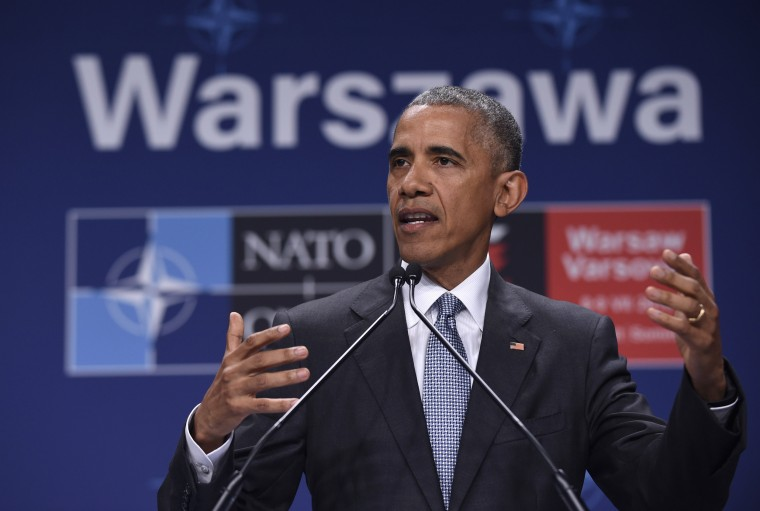 Image: President Barack Obama speaks in Warsaw, Poland