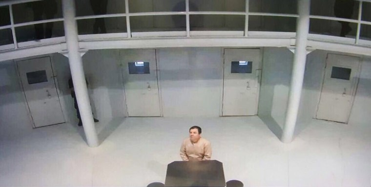 Image: Alleged photo of El Chapo in jail