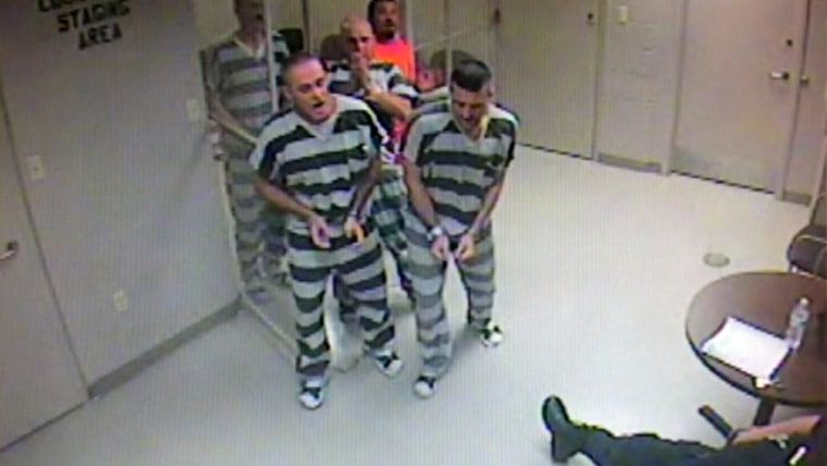 Inmates in Texas broke out of a holding cell to save a deputy who stopped breathing on June 23.