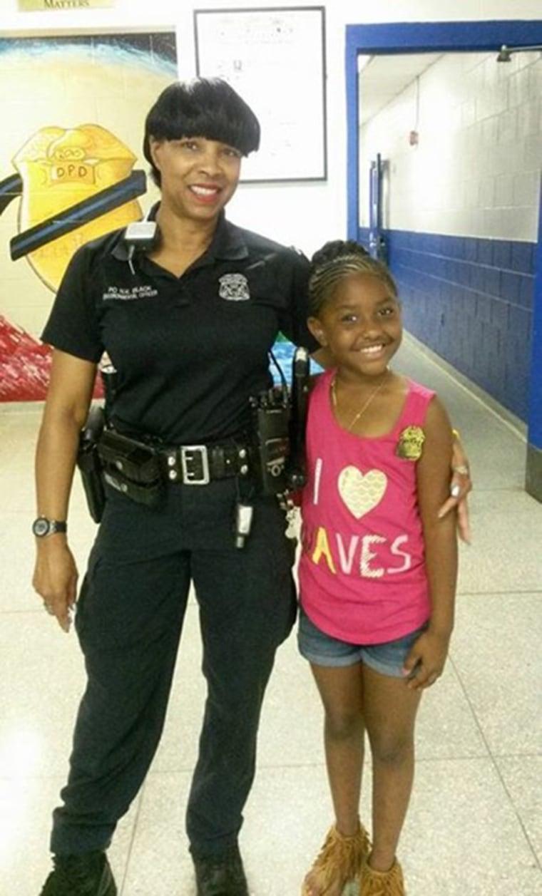 Detroit Police Department Officer Norma Black and Samya McLaughlin