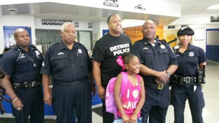 Samya McLaughlin spent her birthday money on lunch for police officers