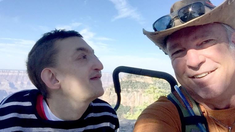 Dallan and Chad Cloward hiking the Grand Canyon