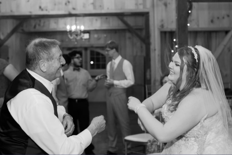 Maggie Wakefield danced with her grandfather at her wedding