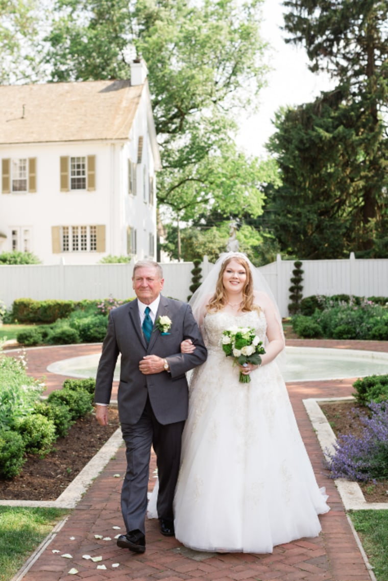 Maggie Wakefield's grandfather walked her down the aisle