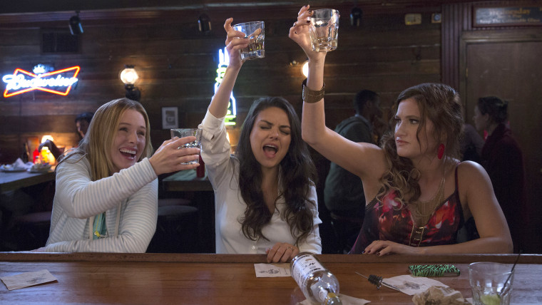 Mila Kunis, Kristen Bell, and Kathryn Hahn in 'Bad Moms.'