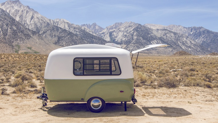 This retro-looking camper is packed with modern innovation