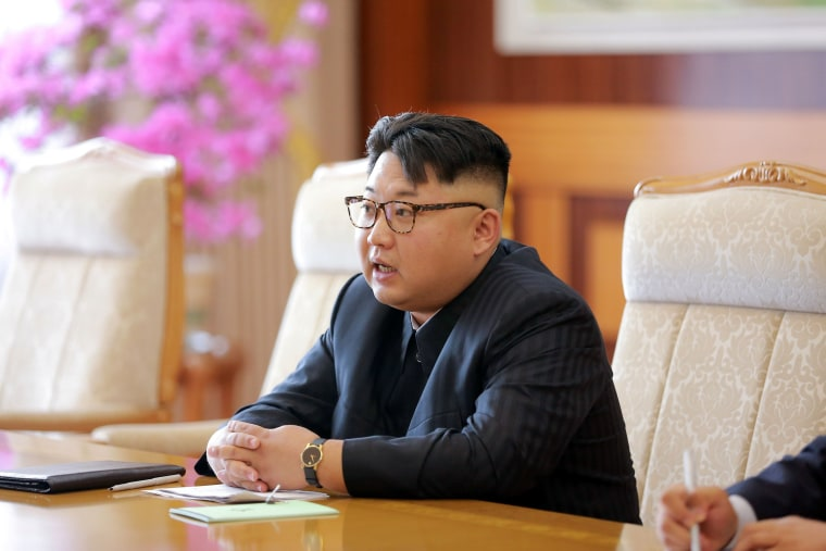 Image: Kim Jong Un in an image released on July 1, 2016