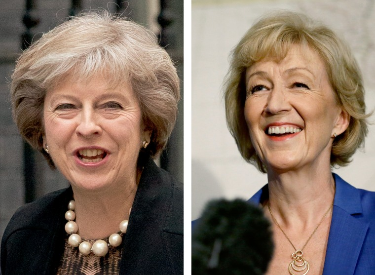 Image: Theresa May and Andrea Leadsom