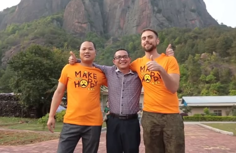 "Matt Stopera visits ""Brother Orange"" Li Hongjun in China."