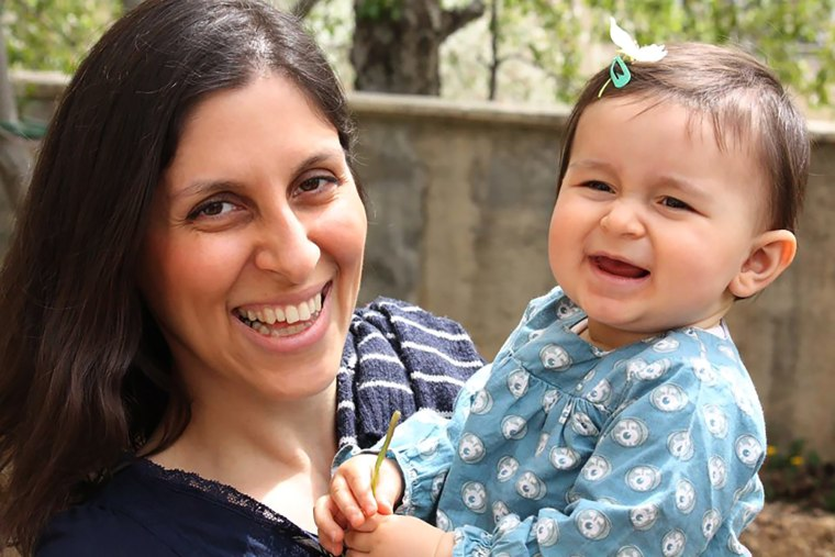Image: Nazanin Zaghari-Ratcliffe with her daughter Gabriella