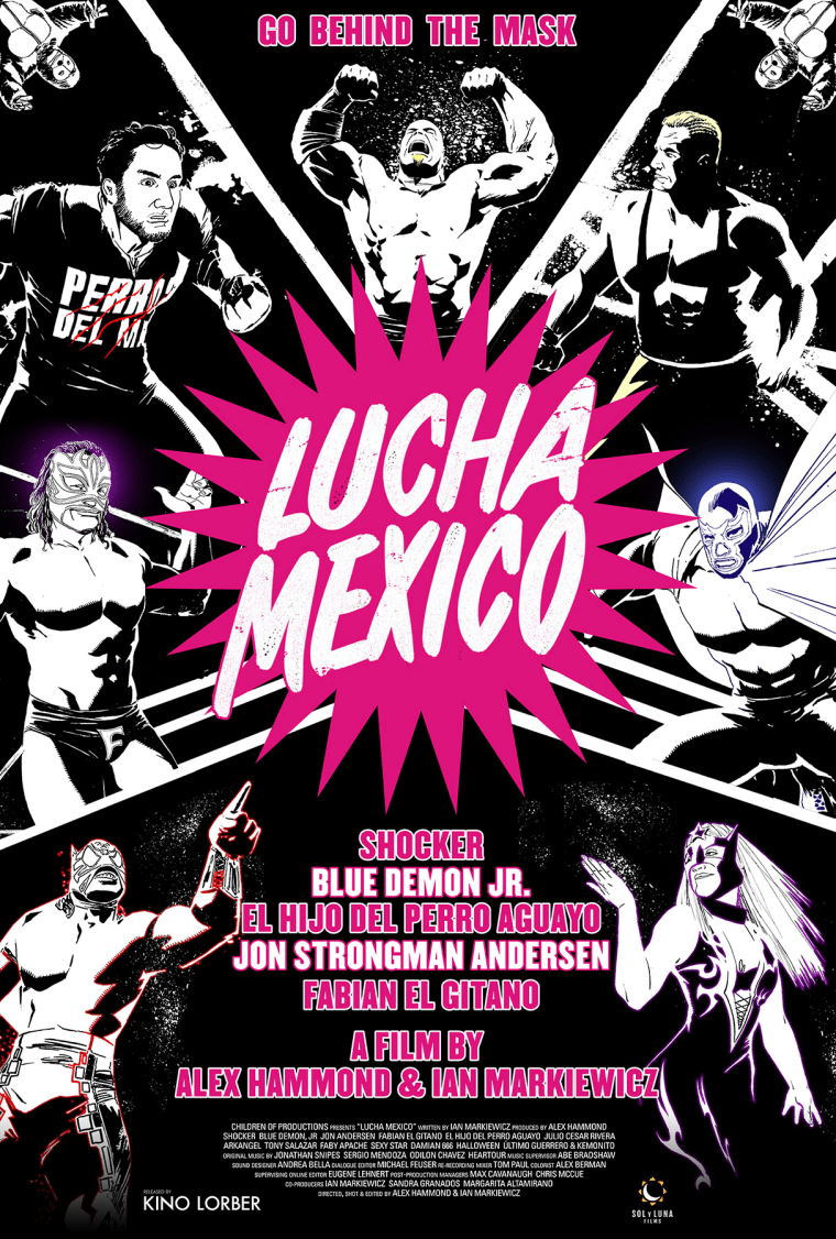 """Film poster for """"Lucha Mexico"""" by Alex Hammond."""