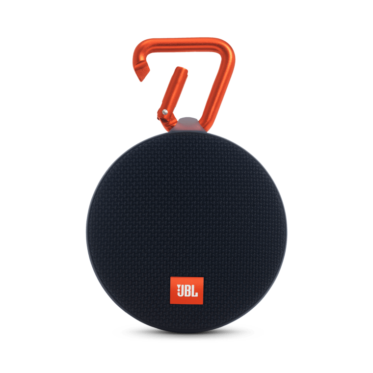 The JBL Clip 2 bluetooth speaker.