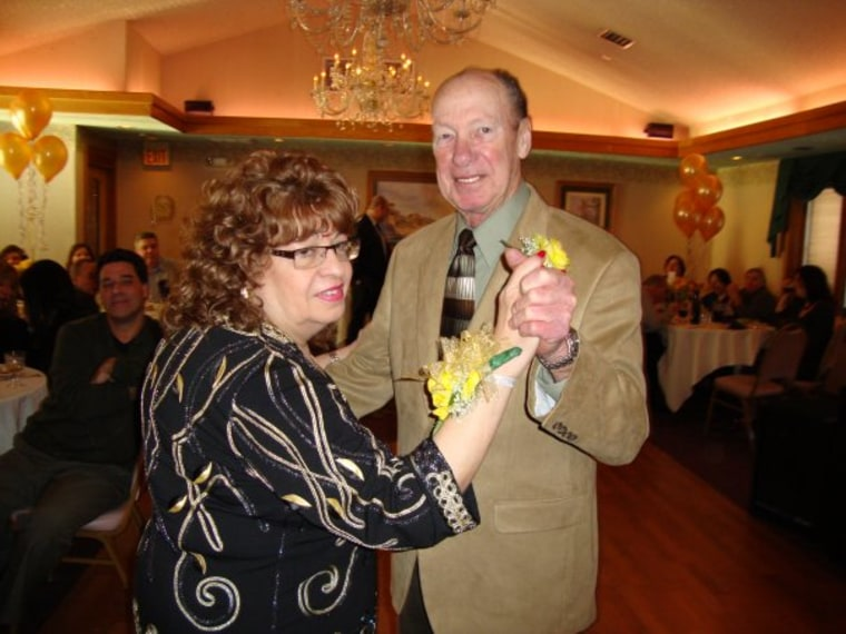 My grandmother and grandfather dancing during their 50th Anniversary party