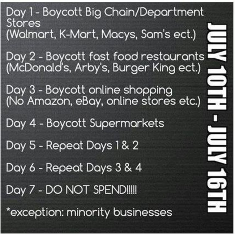"""Call to action from """"Day of Absence Pt. 1"""" Facebook Event"""