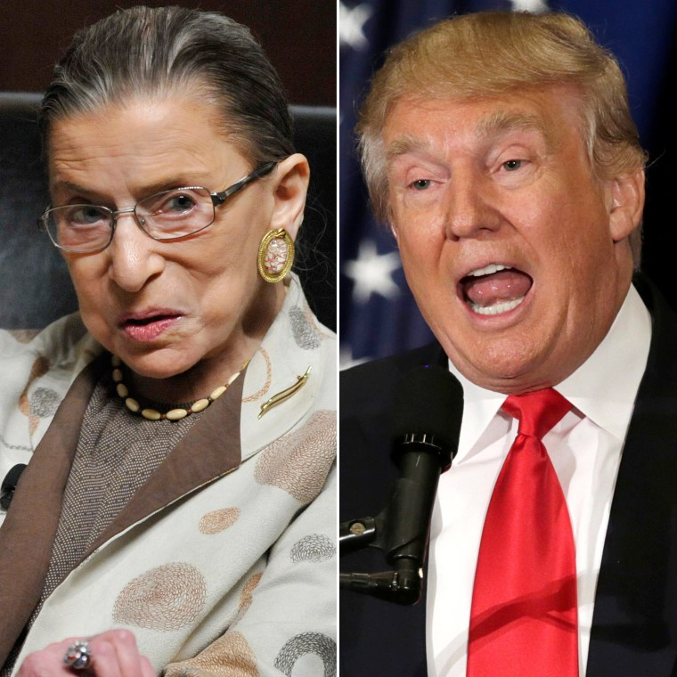 U.S. Supreme Court Justice Ruth Bader Ginsburg | Presumptive Republican presidential nominee Donald Trump