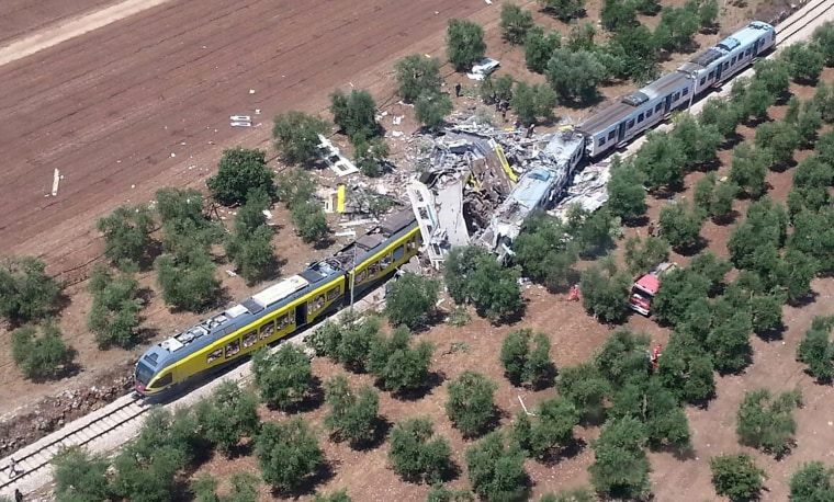 Image: TOPSHOT-ITALY-TRAIN-ACCIDENT