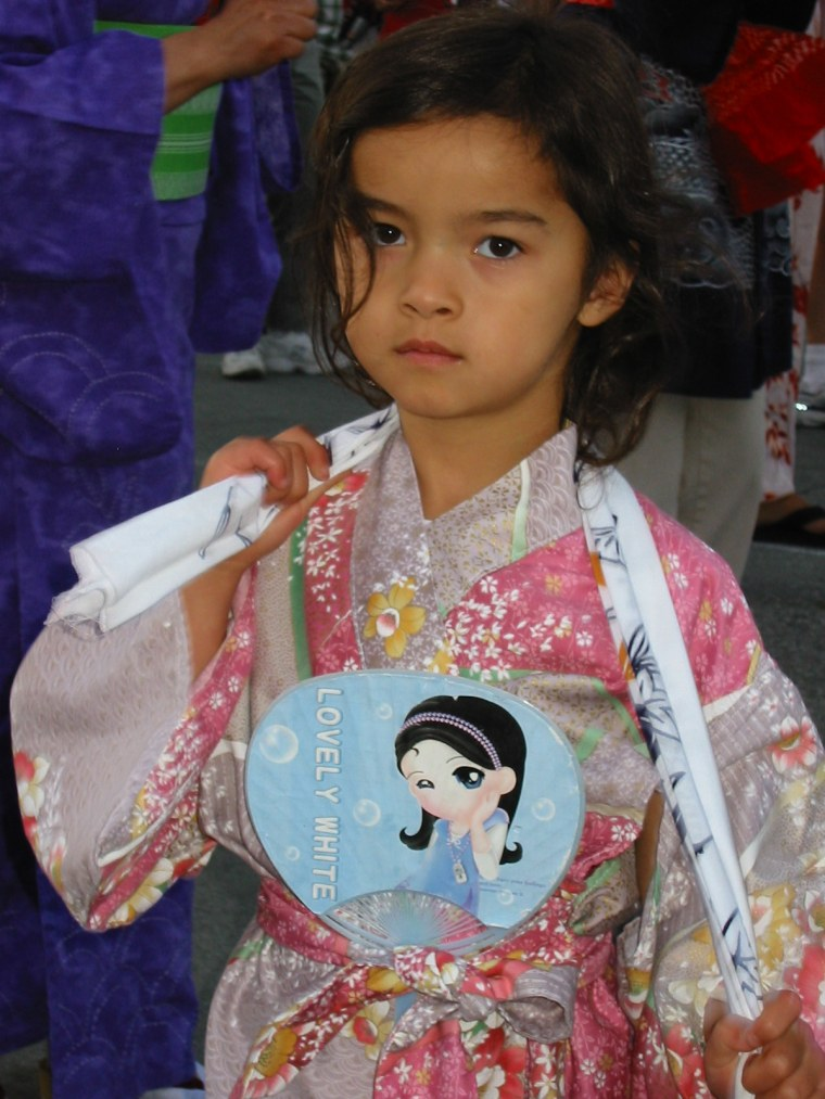 Frances Kai-Hwa Wang's daughter Niu Niu at the San Jose Obon Festival in 2004