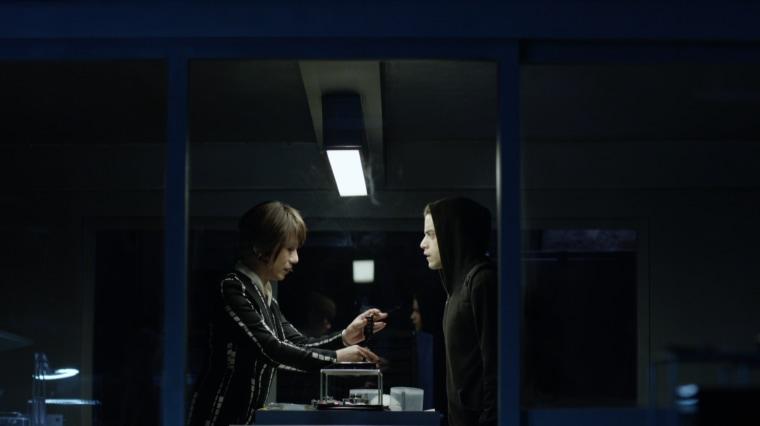 """Mr. Robot's"" Whiterose (BD Wong) and Elliot Alderson (Rami Malek)."
