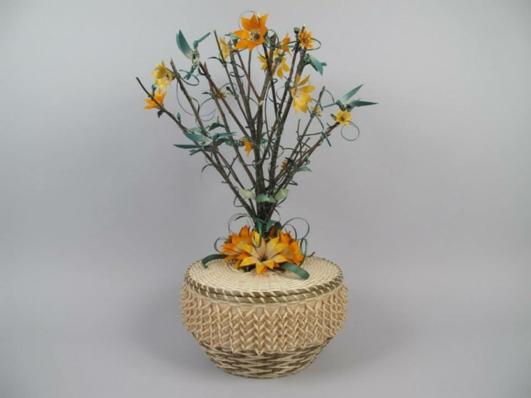 A basket weaved by George Soctomah Neptune