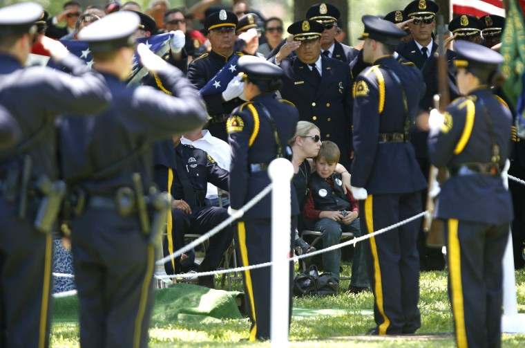Image: Funeral Held For Dallas Police Department Senior Corporal Ahrens Killed During Shooting Of Police Officers