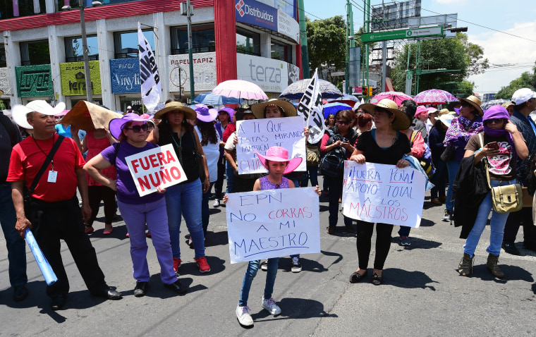 MEXICO-TEACHERS-PROTEST