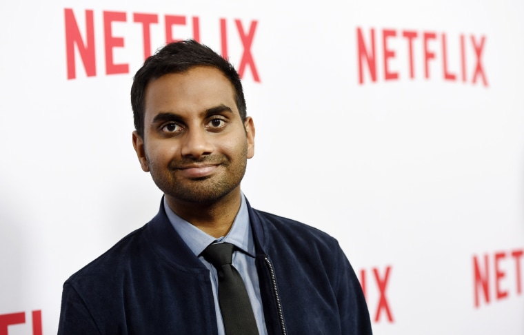 "Aziz Ansari, the star, writer, director and co-creator of the Netflix series ""Master of None,"" poses at The Paley Center."