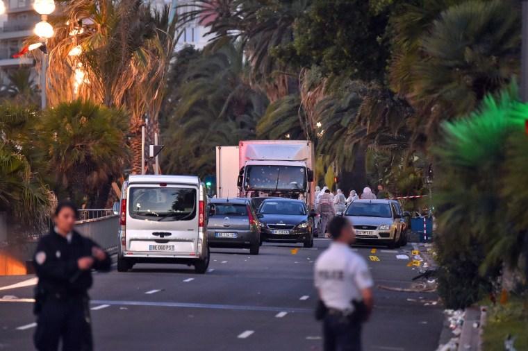 Image: Truck crashes into Bastille Day crowd, Nice, France - 15 Jul 2016