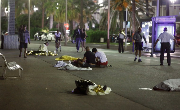 Image: Dozens were killed in the southern French town of Nice when a truck ran into a crowd